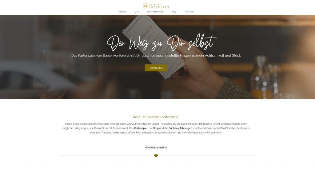 Referenz für Webseite erstellen lassen, Seelenkonferenz