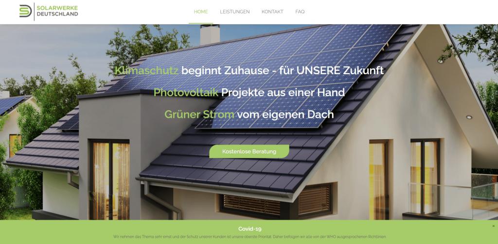 Webdesign Solarwerke Deutschland